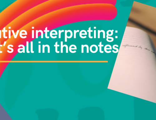Consecutive interpreting: it's all in the notes