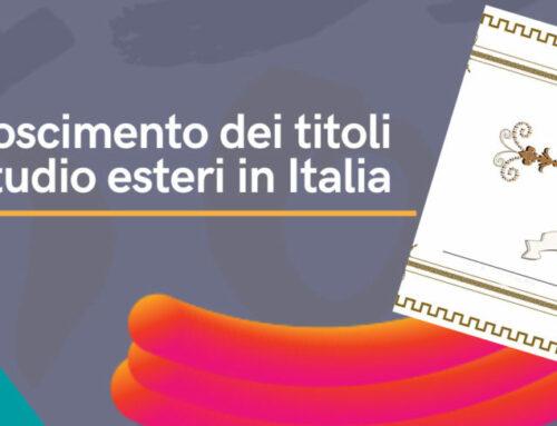 Riconoscimento dei titoli di studio esteri in Italia