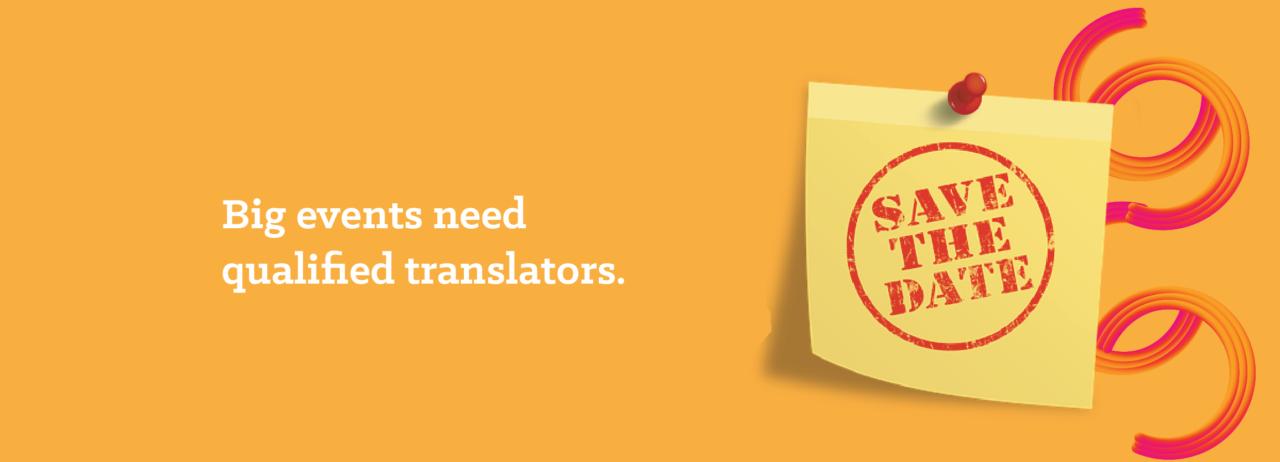 Translating for big events
