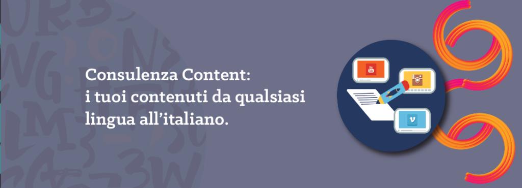 consulenza content