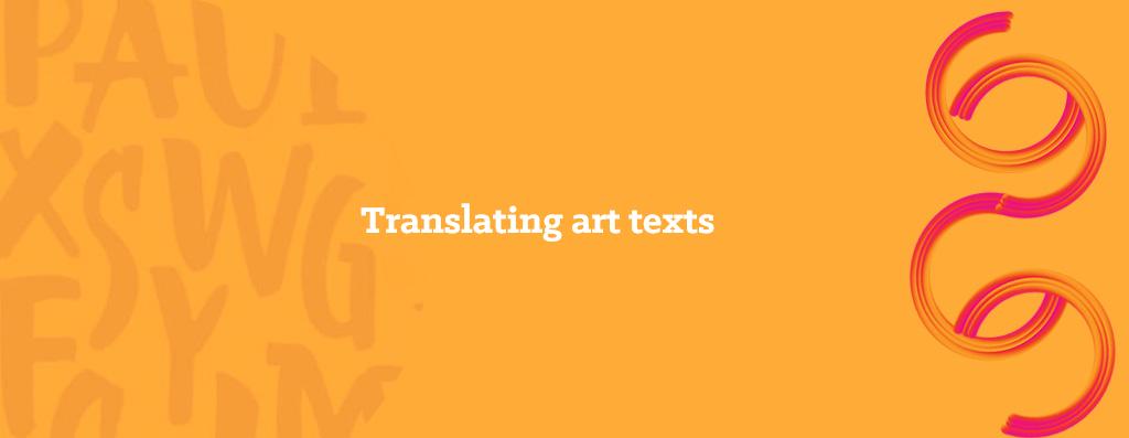 Translating art texts - opitrad