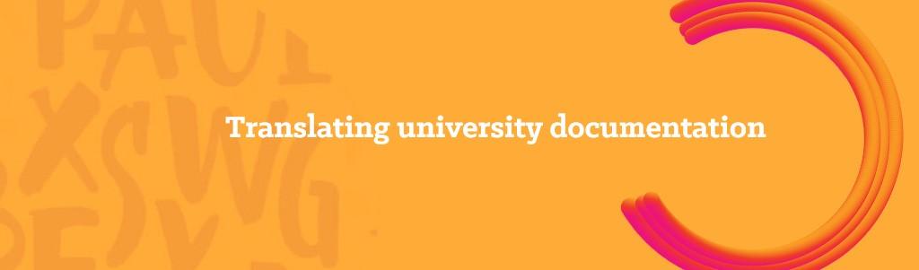 Translating university documentation_opitrad